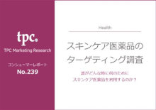 ◇新刊◇「スキンケア医薬品のターゲティング調査」